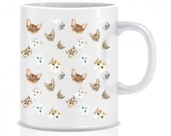 Cats mug, cute selection of cats mug, cats gift