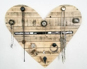 Pallet heart Jewelry Holder, FREE SHIPPING