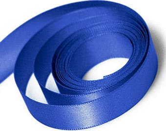 Royal Blue Satin Ribbon available in 2 ribbon widths 15mm, 23mm