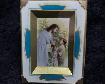 Communion Frame 1938 Vintage Religious Antique