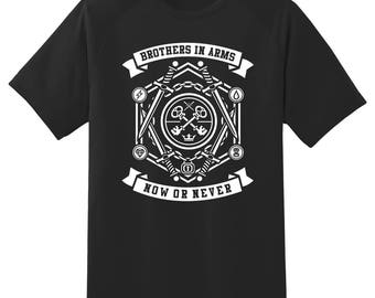 Brothers in arms now or never tee shirt 08012016