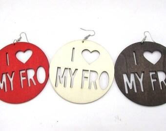 I Heart My Fro Earrings
