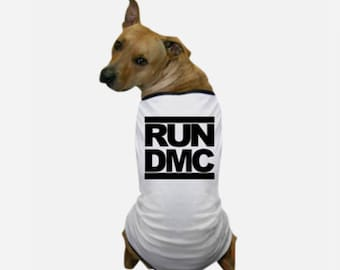 Run DMC T-Shirt - Dog Tee Shirts - Pet T Shirts - Designer Dog Clothes - Dog Lover T Shirts - Your Dog On A Shirt