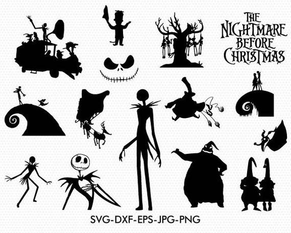 The Nightmare Before Christmas Silhouettes Svg The Nightmare