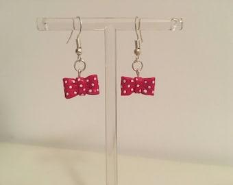 Minnie bow earring