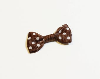 Bow tie with Brown dots.