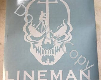 Lineman Decal Etsy