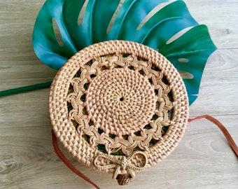 Ornament rattan bag