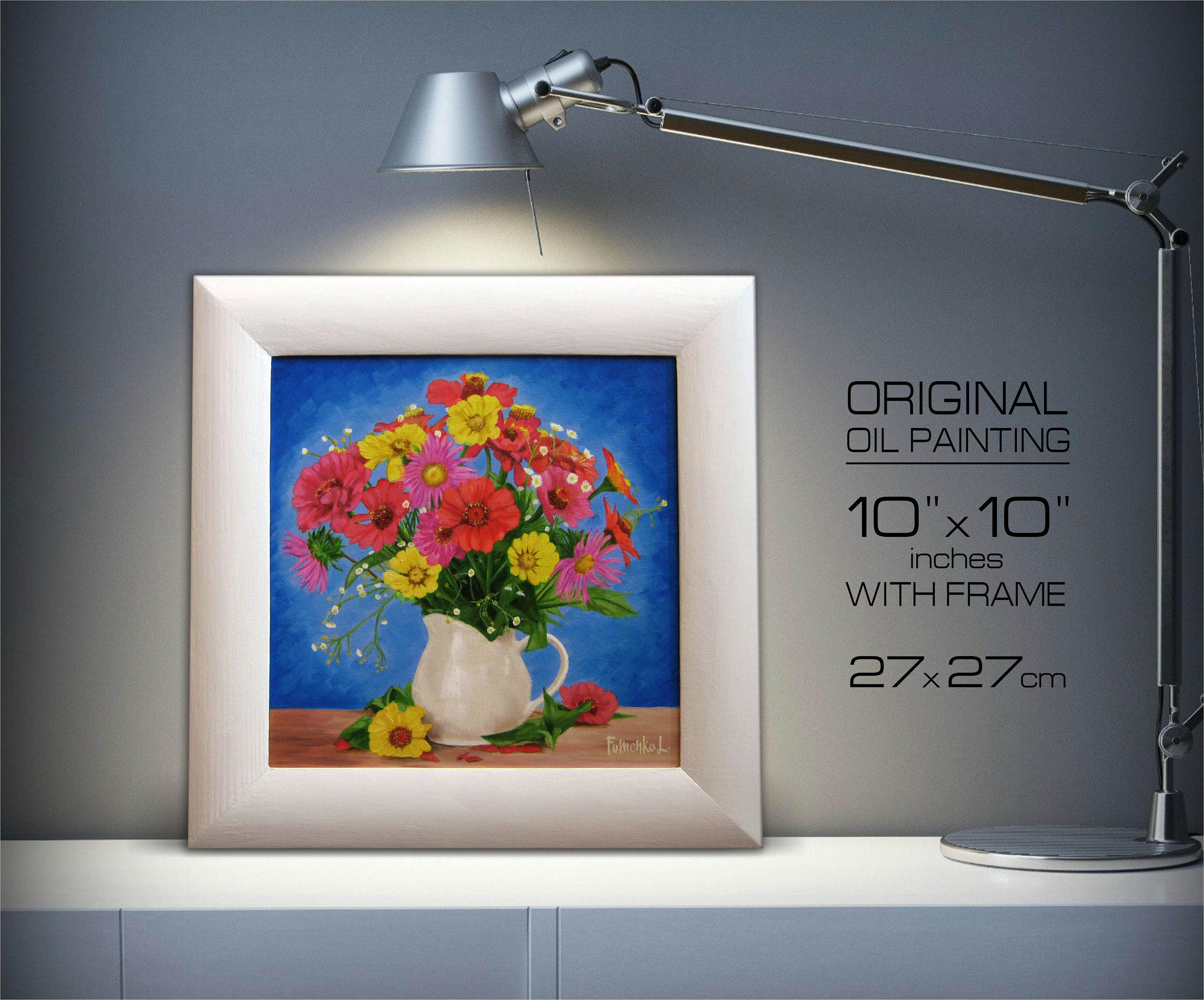 Wall art flower painting - Details Painting Canvas Flower