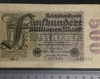 1 x Reichsbanknote - Fünfhundert Millionen Mark