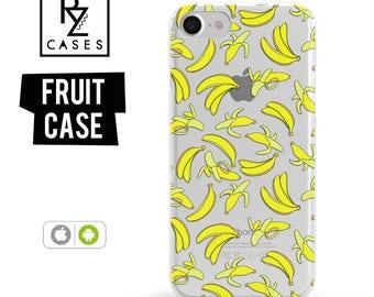 Banana Phone Case, Summer Case, Bananas iphone Case, Fruit Phone Case, iPhone 7, iPhone 6, iPhone 7 Plus, iPhone 6 plus, Samsung Galaxy Case