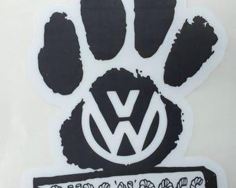 VW Decal Window Sticker