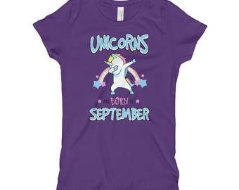 Unicorns Are Born in September T-Shirt