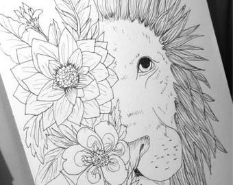 Half Lion Half Followers drawing