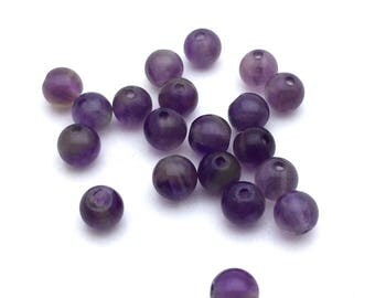 x 20 4mm natural Amethyst beads: PG0057