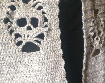 Negative space skull scarf