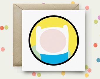Adventure Time Square Pop Art Card & Envelope