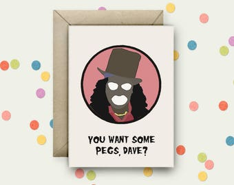 League of Gentlemen Pop Art and Quote A6 Blank Greeting Card with Envelope