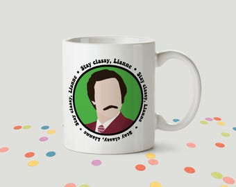 Personalised Anchorman Ceramic Mug
