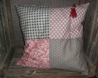 Bohemian pink cushion
