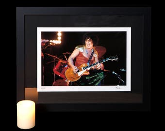 Marc Bolan T. Rex in concert Framed Fine Art Photo