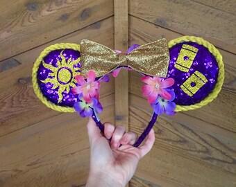 Tangled Rapunzel Inspired Mickey Ears