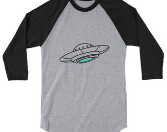 UFO 3/4 sleeve raglan shirt