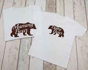 Mother and Child T-Shirt - Mummy and Baby Bear