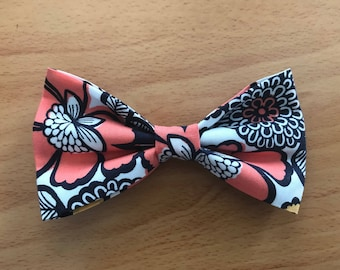 Just Peachy Dog Bow Tie