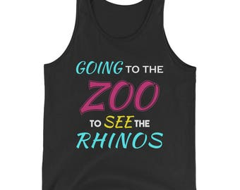 Going to the Zoo to See the Rhinos Tank Top