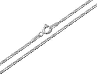 925 Sterling Silver Curb 1.5mm Chain Necklace 14 16 18 20 22 24 26 28 30 inches