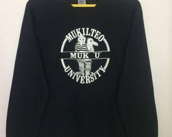 Vintage Mukilteo University Crewneck Sweatshirt XLarge Size