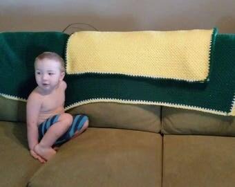 John Deere baby blanket and pillow cover-crib