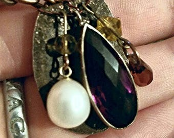 Crystal gem pendant