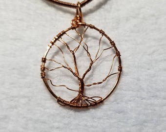 Tree in Winter; Copper Tree of Life