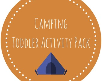 Camping Toddler School Activity Pack