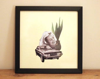 Car Plant - Digital Collage Art Print Poster