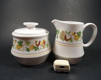 noritake Progression Homecoming China Sugar bowl & Creamer. #9002.