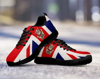 Proud Brit Running Shoes - Dark Sole fan, collector, gift