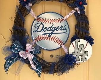 Los Ángeles Dodgers Wreath