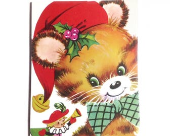 Large Christmas Magnet 'Kitsch Little Christmas Dog' Retro Kitsch Magnet Christmas Decor Xmas Magnet Christmas Gifts Office Decor NO QC-16