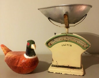 Vintage Salter scales / kitchenalia / retro / home decor / french enamel / enamelware / shabby chic / antiques / gifts / bread bin
