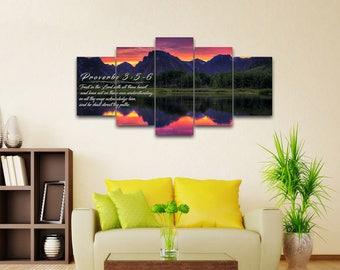 Proverbs 3:5-6 #35 KJV Biblical Wall Art, Bible Quote Art, Bible Verse Prints, Christian Art Gifts, Religious Gifts, Christian Prints