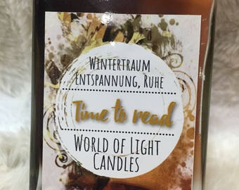 Time to read-Bookish candle-