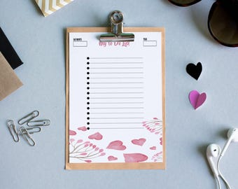 to-do list notepad, printable to-do list, to-do list, printable to do list, to-do, to do list, planner inserts, a5, a5 planner, printable a5