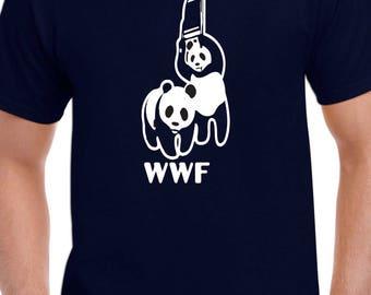 WWF Panda World Wresling T Shirt Sz: S-2XL
