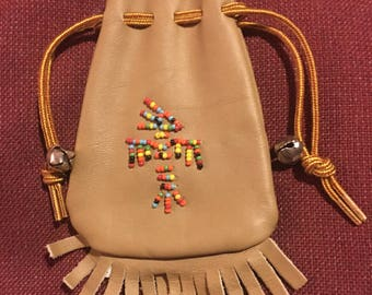 Vintage Native American Beaded Pouch