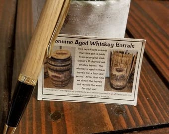 Jack Daniel's aged oak Whiskey Barrel Wall Street style Pen