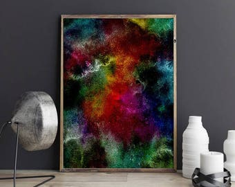 space art , colorful wall art , galaxy print ,  galaxy wall art ,  instant download art  , abstract art prints , abstract printable