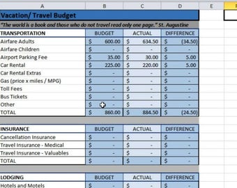 spreadsheet budget